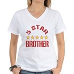 5 Star Brother Women's V-Neck T-Shirt