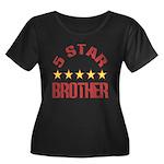 5 Star Brother Women's Plus Size Scoop Neck Dark T