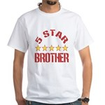 5 Star Brother White T-Shirt