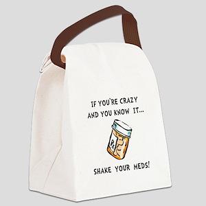 Shake Meds Canvas Lunch Bag