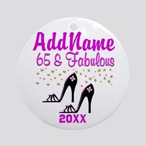 SNAZZY 65TH Ornament (Round)