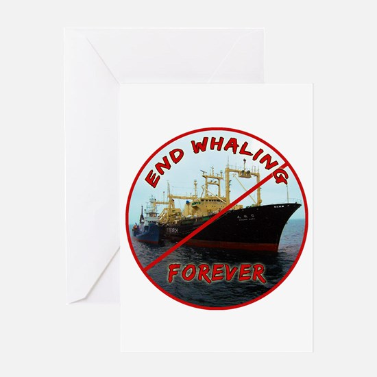 End Whaling Forever Greeting Card