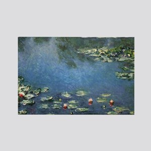 Waterlilies by Claude Monet, Vintage Flowers Recta