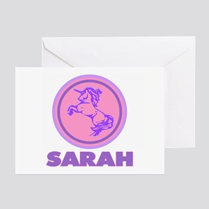 """Sarah Unicorn"" Greeting Cards (Pk of 10)"