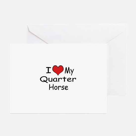 """I """"Heart"""" My Quarter Horse Greeting Cards (Package"""