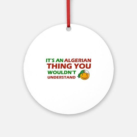 Algerian smiley designs Ornament (Round)