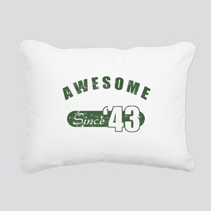 Awesome Since 1943 Rectangular Canvas Pillow