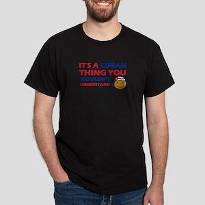 Cuban smiley designs Dark T-Shirt