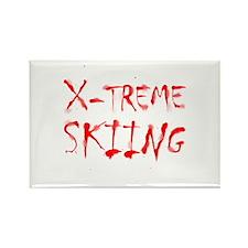 X-treme Skiing Rectangle Magnet