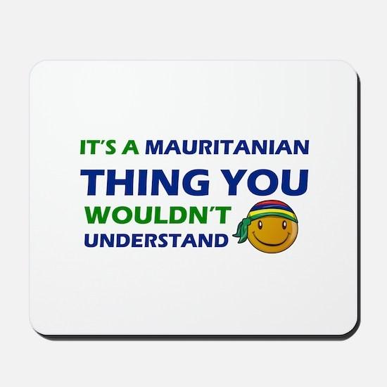 Mauritanian smiley designs Mousepad