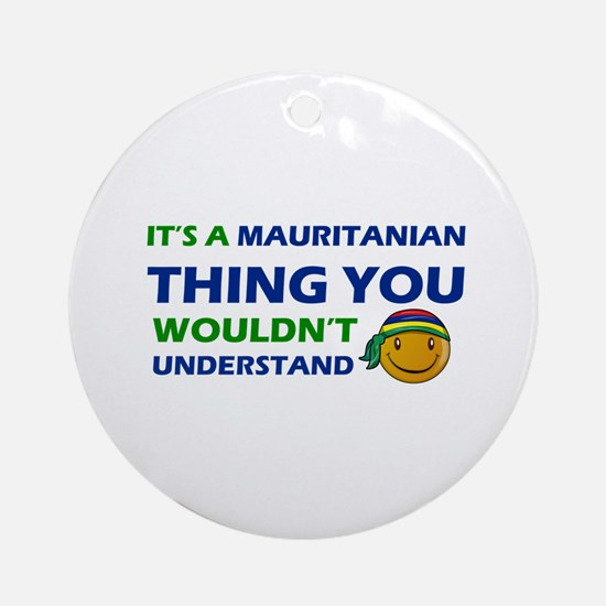 Mauritanian smiley designs Ornament (Round)