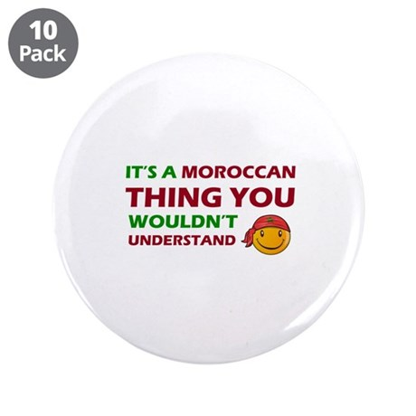 "Moroccan smiley designs 3.5"" Button (10 pack)"