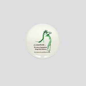 Llamatude Green Mini Button