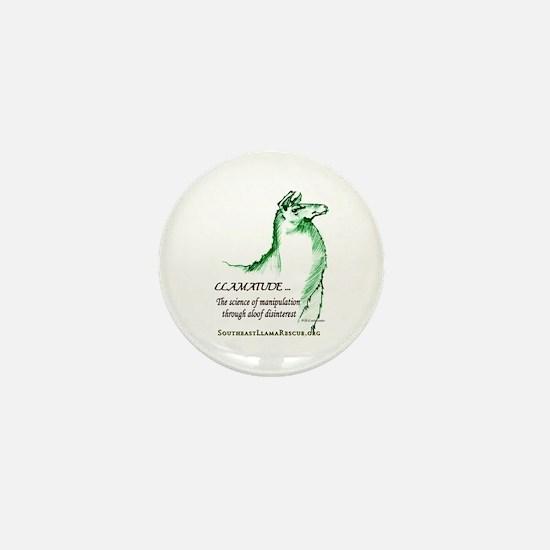 Llamatude Green Mini Button