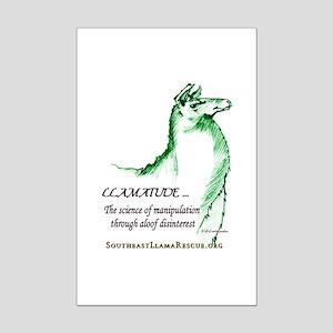 Llamatude Green Mini Poster Print