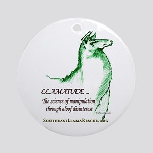 Llamatude Green Ornament (Round)
