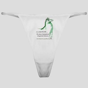 Llamatude Green Classic Thong