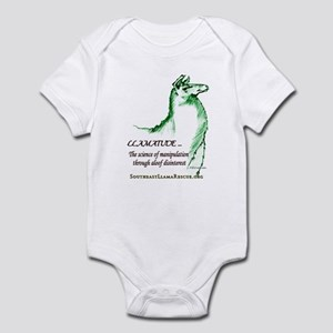Llamatude Green Infant Bodysuit