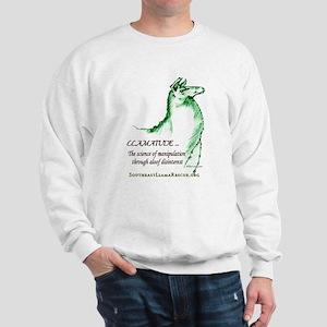Llamatude Green Sweatshirt