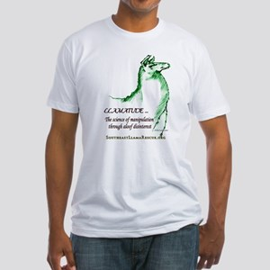 Llamatude Green Fitted T-Shirt