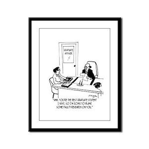 Academia Cartoon 6261 Framed Panel Print