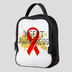 Red Ribbon Awareness Neoprene Lunch Bag