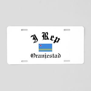 I rep Oranjestad Aluminum License Plate