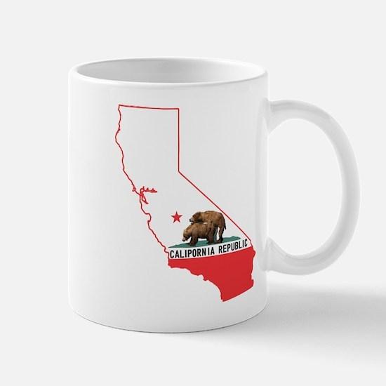 CALIPORNIA state outline Mug