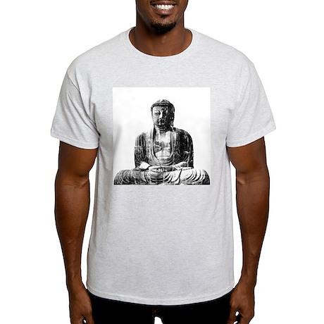 Retro Buddha Ash Grey T-Shirt