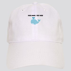 Custom Blue Cartoon Whale Baseball Cap