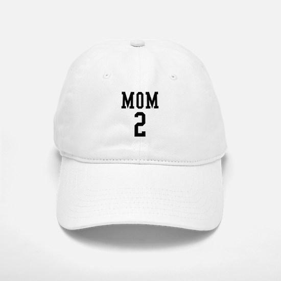 Mom of 2 Baseball Baseball Cap