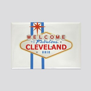 Welcome to Cleveland Rectangle Magnet