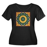 Dizzy Doodlers Women's Plus Size Scoop Neck Dark T