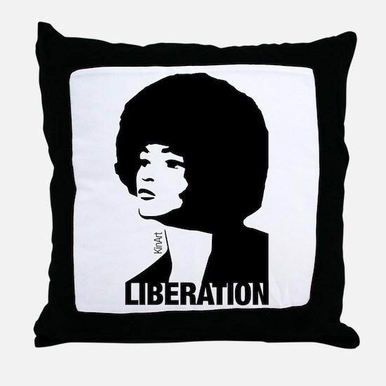 Angela's Liberation Throw Pillow