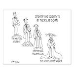 Scientist Cartoon 0779 Small Poster