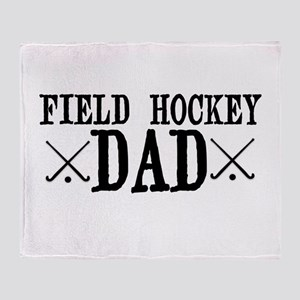 Field Hockey Dad Throw Blanket