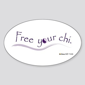Free Your Chi Oval Sticker