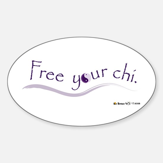 Free Your Chi Oval Decal