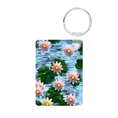 Waterlily reflections Keychains