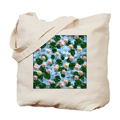 Waterlily reflections Tote Bag