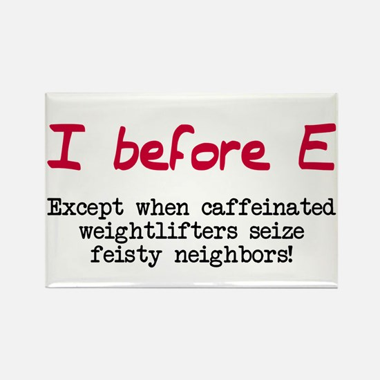 I before E except after... Rectangle Magnet