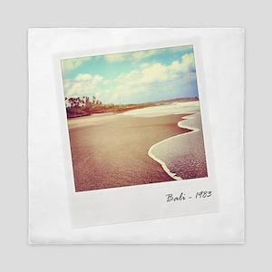 Bali beach 1983 Queen Duvet