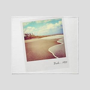 Bali beach 1983 Throw Blanket