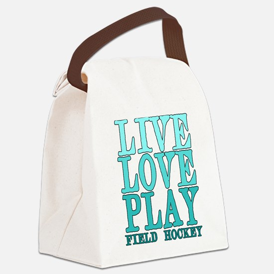 Live, Love, Play - Field Hockey Canvas Lunch Bag