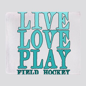 Live, Love, Play - Field Hockey Throw Blanket