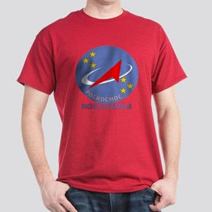 Roscosmos Blue Logo Dark T-Shirt