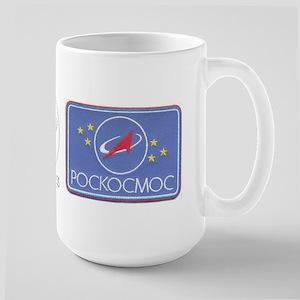 Roscosmos Blue Logo Large Mug
