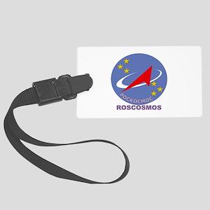 Roscosmos Blue Logo Large Luggage Tag