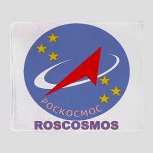 Roscosmos Blue Logo Throw Blanket