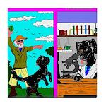 Labrador Work Play Tile Coaster